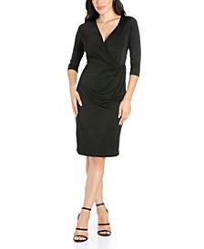 Women's Draped in Style V-Neck Dress