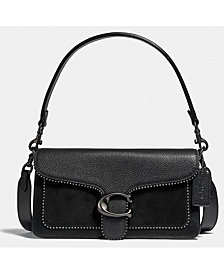 COACH Leather Tabby Shoulder Bag 26 With Beadchain
