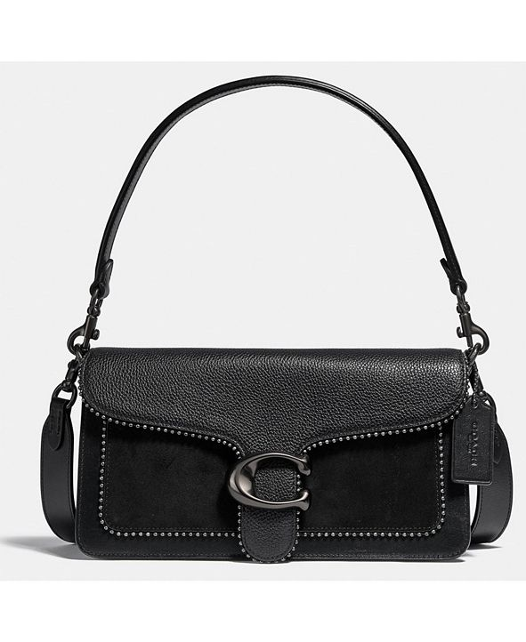 COACH Tabby Leather Shoulder Bag 26 With Beadchain