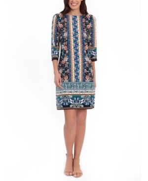 London Times PETITE PRINTED SHIFT DRESS