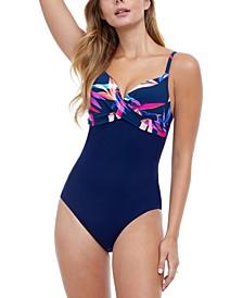 Paradise V-Neck One-Piece Swimsuit