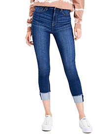 Juniors' High-Rise Cuffed Skinny Jeans