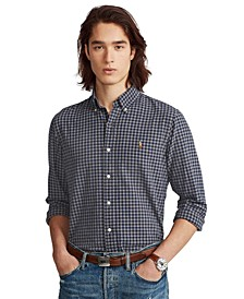 Men's Classic-Fit Gingham Oxford Shirt