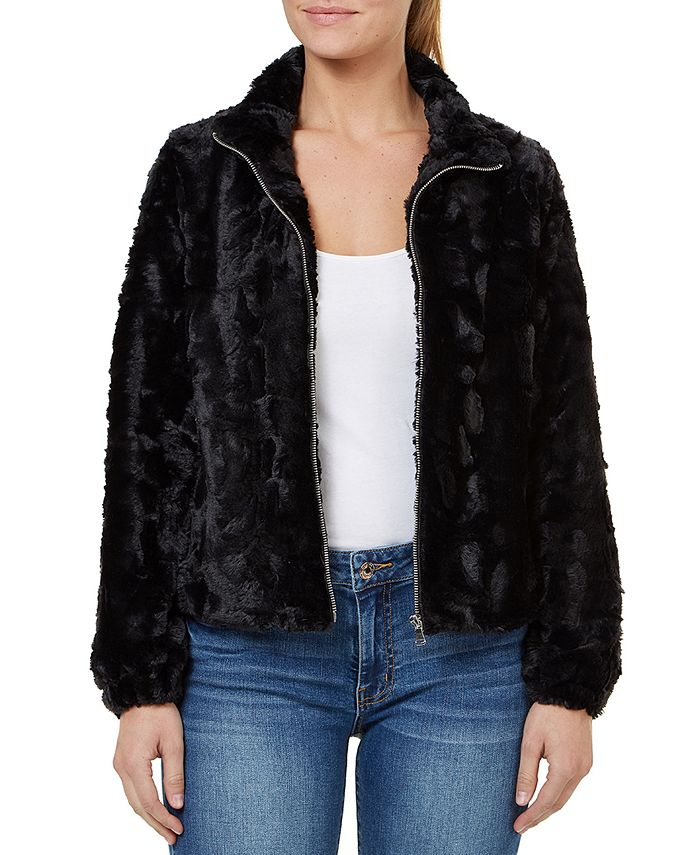 Numero - Faux-Fur Zip-Front Jacket