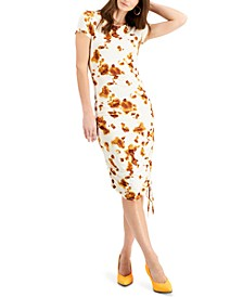 Printed Ruched Dress, Created for Macy's