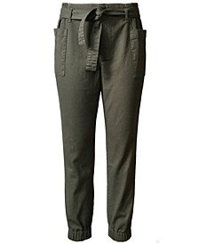 Juniors' Belted Cargo Jeans