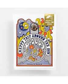 Pisces Lapel Pin Card
