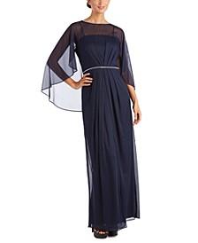 Rhinestone-Trim Gown