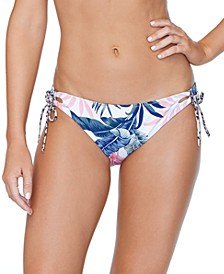 Juniors' Not So Bora Bora Printed Reversible Bikini Bottoms