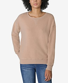 Juniors' Crewneck Teddy Sweatshirt