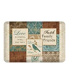 Faith, Family Friends Kitchen Mat