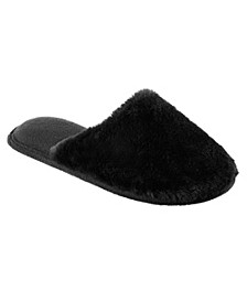 Isotoner Women's Boxed Faux Fur Laurel Clog Slippers