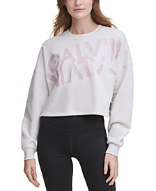 Mirror-Logo Cropped Sweatshirt