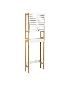 3 Shelf Over the Toilet Bamboo Space Saver Cabinet