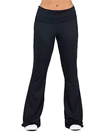 Women's Bell Bottom Foldover Waist Sweatpants