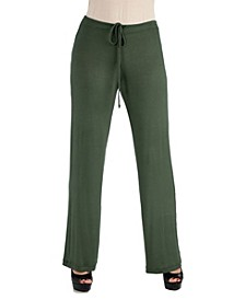 Women's Plus Size Drawstring Lounge Pants