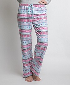 Women's Printed Fleece Pajama Pants