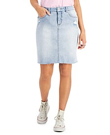 Distressed Denim Skirt, Created for Macy's