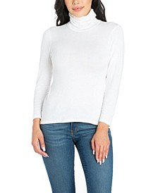 Women's Classic Long Sleeve Turtleneck Top