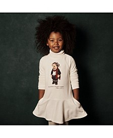 Little Girls Tuxedo Bear French Terry Dress