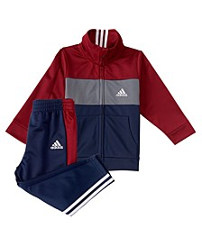 Baby Boys Zip Front Tricot Jacket and Pants Set