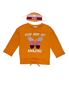 Big Girls 'You Are So Amazing' Sweater with Matching Mask