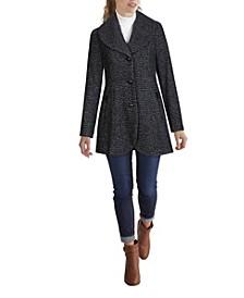 Women's Shawl Collar Skirted Coat