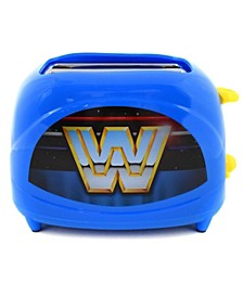 WWE Retro Logo 2-Slice Toaster- Toasts World Wrestling Logo onto Your Toast