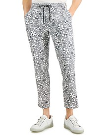 INC Men's Slim-Fit Cropped Floral Pants, Created for Macy's