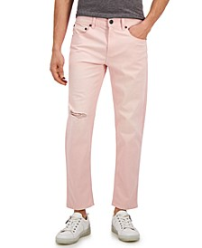 INC Men's Pink Tapered Jeans, Created for Macy's
