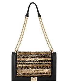 INC Ajae Beaded Flap Crossbody, Created for Macy's