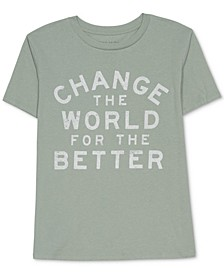 Trendy Plus Size Change The World T-Shirt