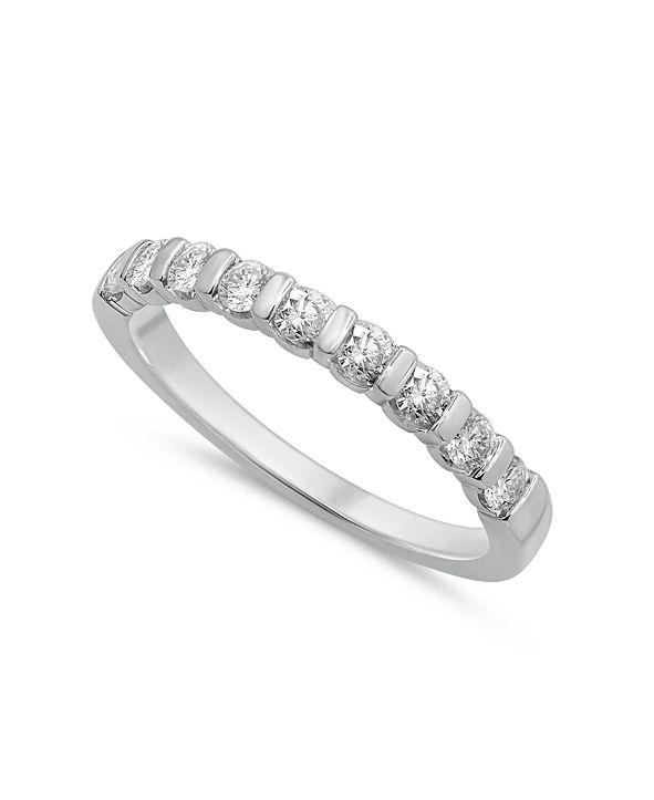 Macy's Diamond Bar Band (1/2 ct. t.w.) in 14k White Gold