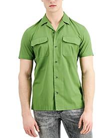 INC Men's Regular-Fit Short-Sleeve Shirt, Created for Macy's