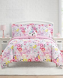 Donut Critters 3-Pc Twin Comforter Set with Decorative Pillow