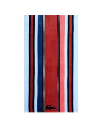 Seashore Cotton Warm Stripe Beach Towel