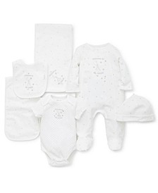Baby Boys & Baby Girls 6-Pc. Welcome To The World Cotton Gift Set