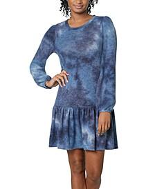 Juniors' Tie-Dye Drop-Waist Dress