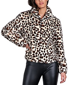 Animal-Print Faux-Fur Jacket