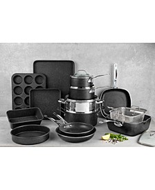 Titanium Diamond Infused Nonstick 20-Pc. Complete Cookware & Bakeware Set