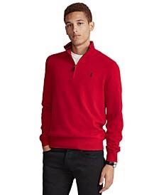 Men's Cashmere Blend Quarter-Zip Sweater