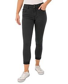 Juniors' Curvy Rolled-Cuff Skinny Jeans