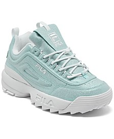 Big Girls Disruptor II Glimmer Casual Sneakers from Finish Line