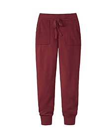 Women's Pocket and Drawstring Sweater Jogger
