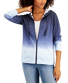 Petite Ombré Zip Hoodie, Created for Macy's