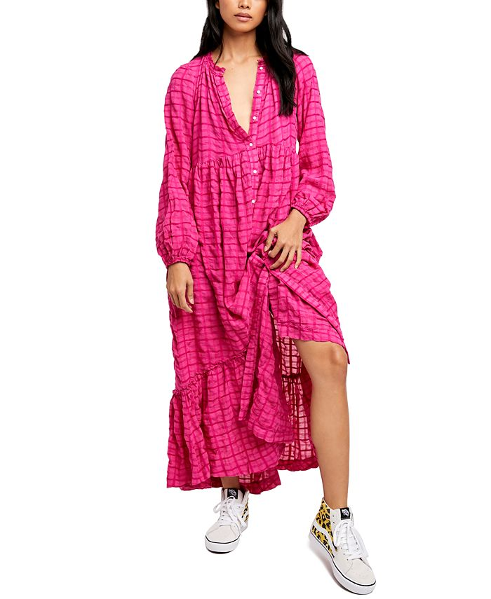 Free People - Edie Woven Maxi Shirtdress