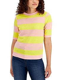 Striped Short-Sleeve Sweatshirt, Created for Macy's