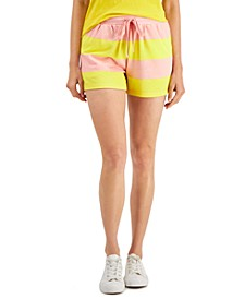 Striped Knit Track Shorts, Created for Macy's