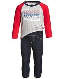 Baby Boys Raglan T-Shirt and Jeans Set