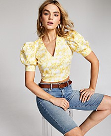 INC Petite Puff-Sleeve Top, Created for Macy's